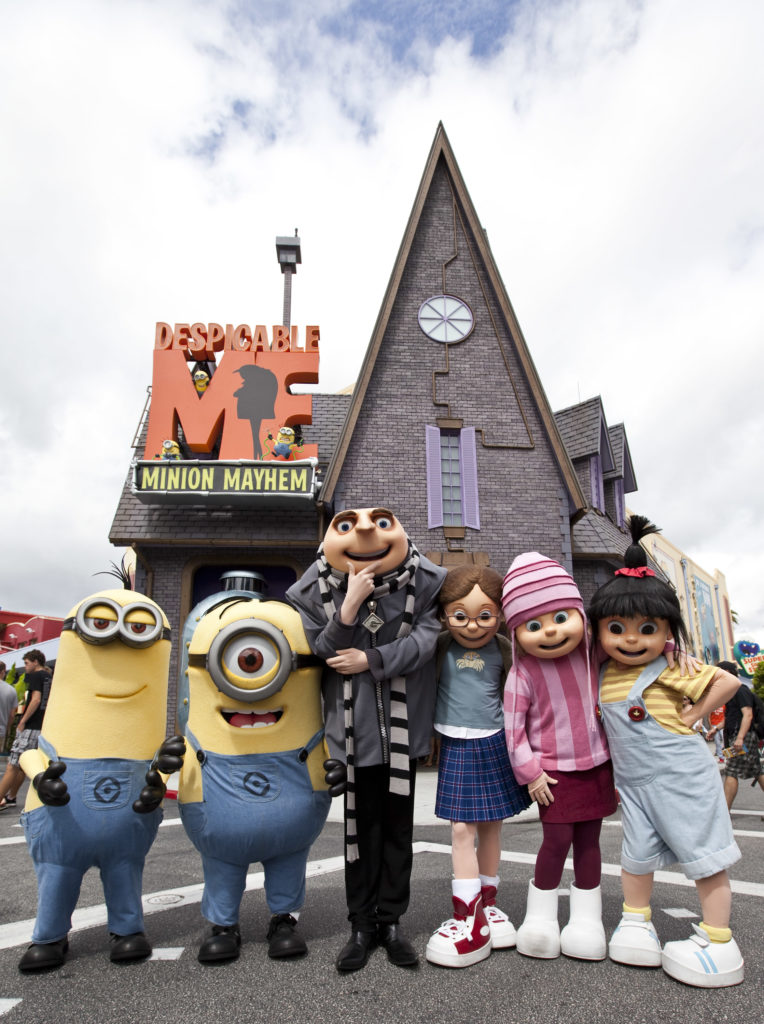 One of the most hilarious and heartwarming theme park experiences ever created Ð Despicable Me Minion Mayhem Ð is now open at Universal Orlando Resort, bringing minions, mayhem and tons of laughter to Universal Studios.     The brand-new ride combines the outrageous humor and memorable characters from the hit Universal Pictures and Illumination EntertainmentÕs blockbuster film, Despicable Me, with an all-new storyline, incredible new animation and the latest 3-D technology to create a wildly-hysterical and unforgettable experience.
